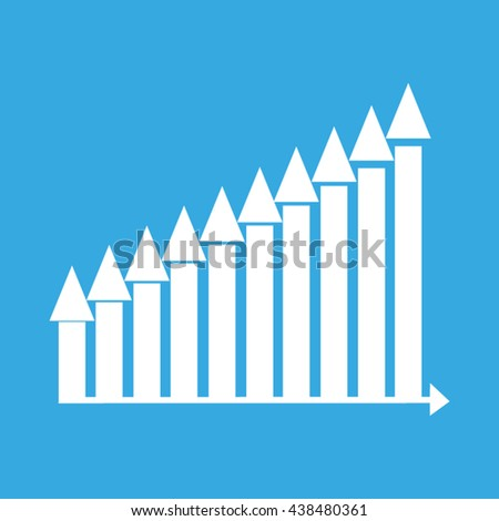 business growth chart vector illustration