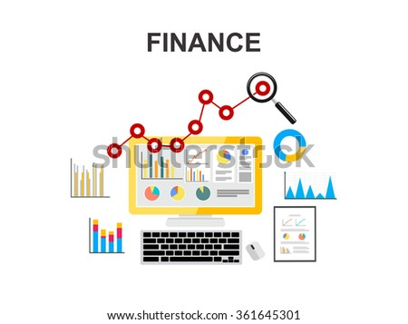 Business growth concept illustration. Finance. Economy. - stock vector