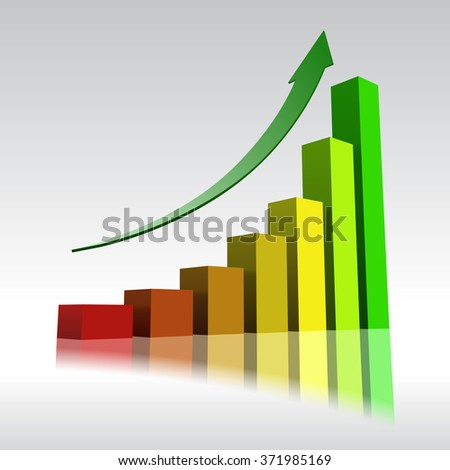 Business growth - Vector illustration - stock vector