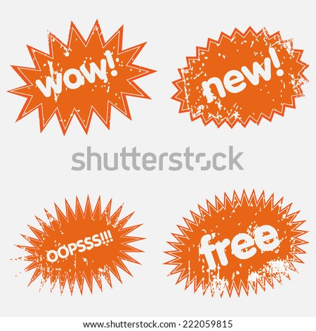 Business grunge elements  - stock vector