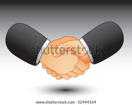 business handshake - stock vector