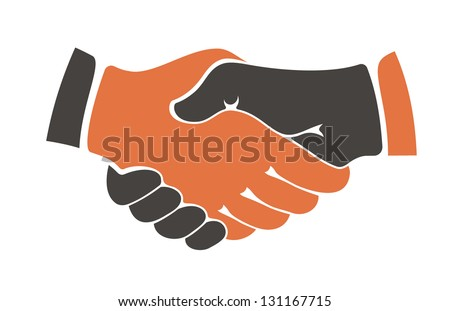 Business handshake. Jpeg (bitmap) version also available in gallery - stock vector