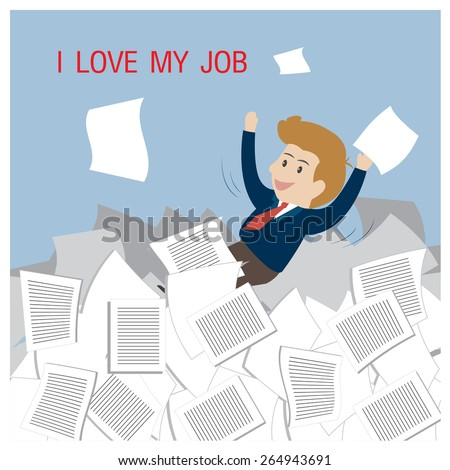 Business happy with job. - stock vector