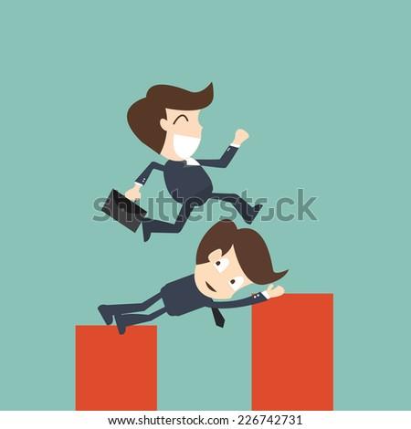 Business Help - Concept of teamwork - stock vector