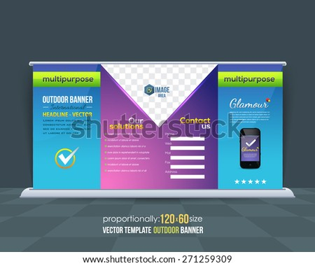Business Hi-Tech Theme Abstract Content Outdoor Background and Banner or Horizontal Website Banner, Advertising Vector Design - stock vector
