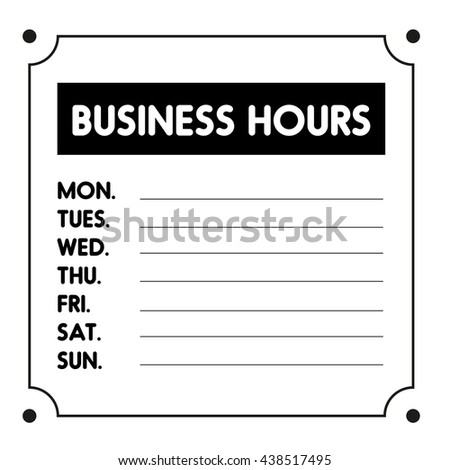 Business hours sign template engneforic business hours sign template cheaphphosting Gallery