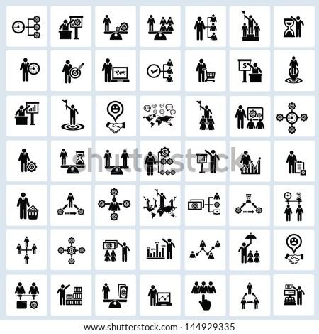 Business,Human resource,icons,Vector - stock vector
