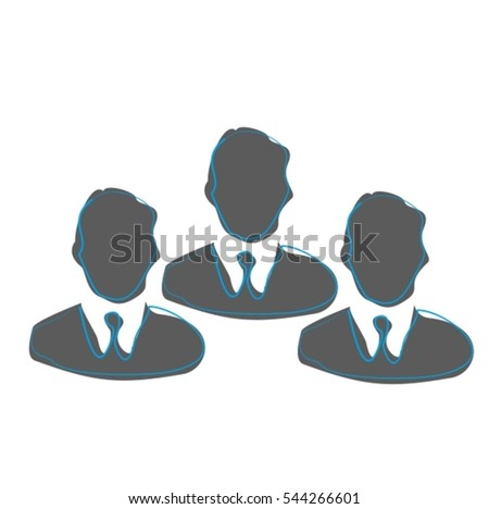 Business icon, cooperation, organization, partnership, teamwork, users, members, avatars, profiles