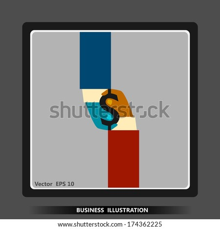 Business icon. Covenant. Contract. Infographics. - stock vector