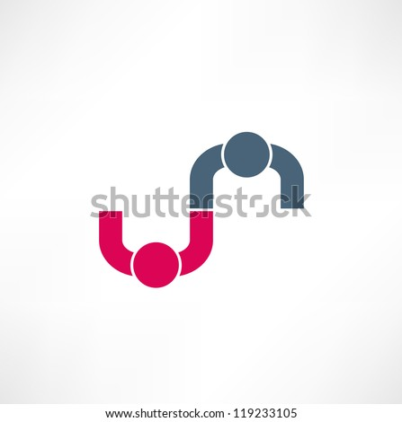 Business icon. Handshake. Transaction. - stock vector