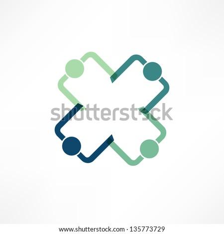 Business icon. Handshake. Transaction. - stock vector