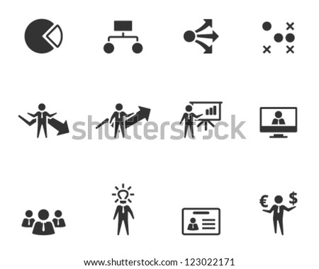 Business icon series in single color style - stock vector