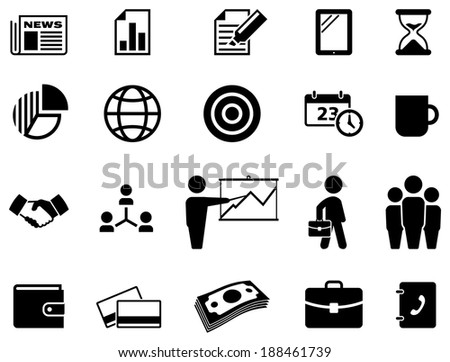 Business icon set. - stock vector