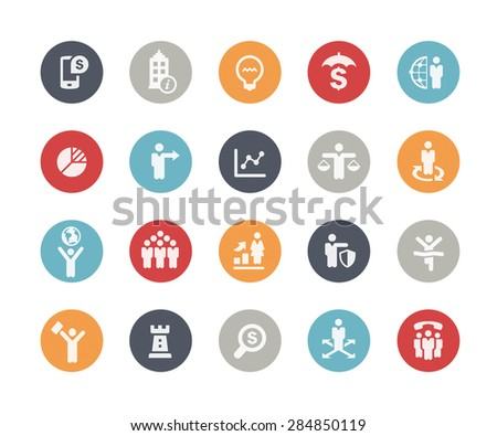 Business Icon Set // Classics Series - stock vector