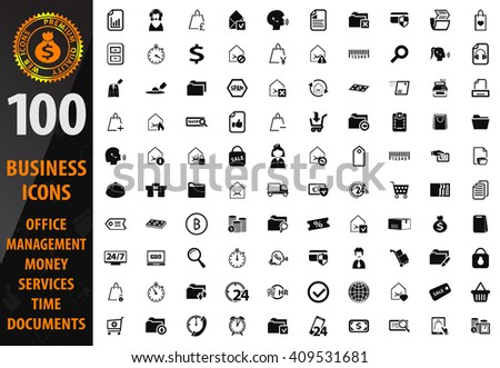 Business icon set for web sites and user interface