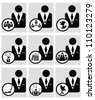 Business ,icon set,Vector - stock vector