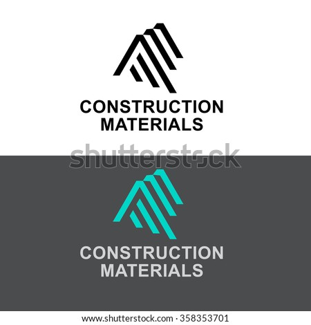 Business Icon - Vector logo design template. Abstract emblem for Construction Materials, building industry construction process, urban architecture, letter A, AA, AAA - stock vector