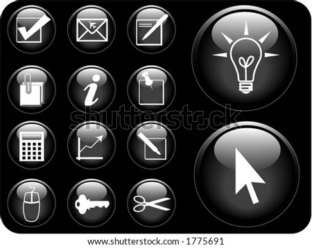 Business icon vectors. - stock vector