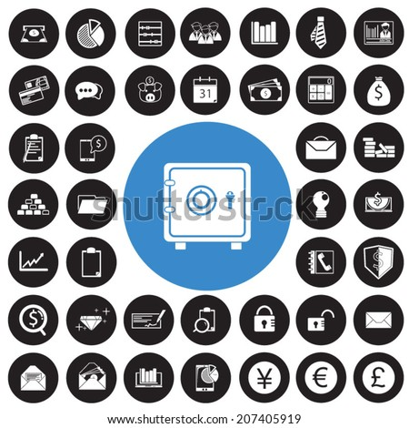 Business Icons and Finance Icons set - stock vector