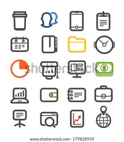 Business icons collection - stock vector