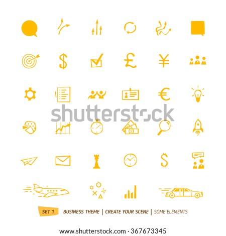 Business icons collection for your scene - stock vector