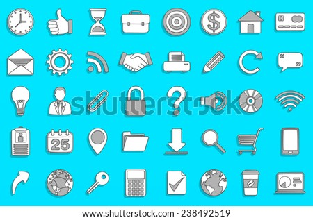 Business Icons - Doodle Style for Web & Apps.