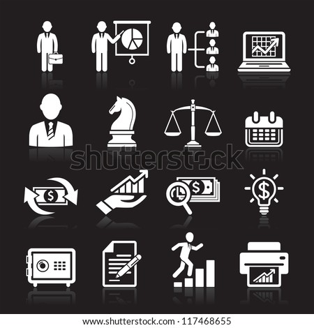 Business icons, management and human resources set2. vector eps 10. More icons in my portfolio. - stock vector
