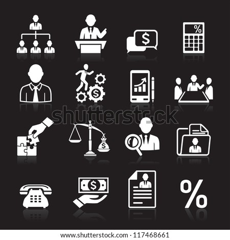 Business icons, management and human resources set3. vector eps 10. More icons in my portfolio. - stock vector
