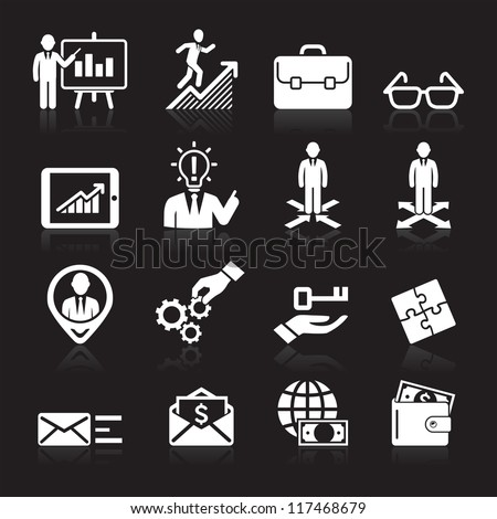 Business icons, management and human resources set5. vector eps 10. More icons in my portfolio. - stock vector