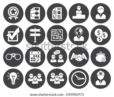 Business icons (modern flat design) - stock vector
