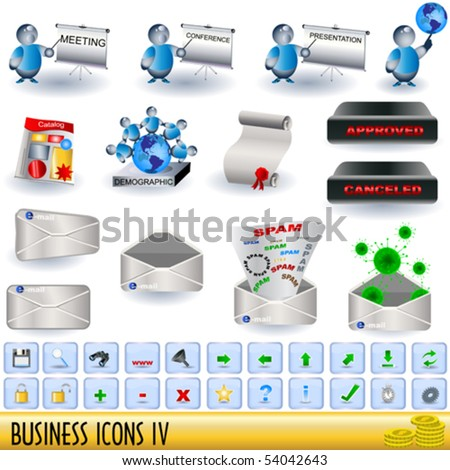 Business icons - part 4 - stock vector