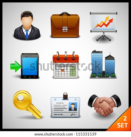 business icons - set 2 - stock vector