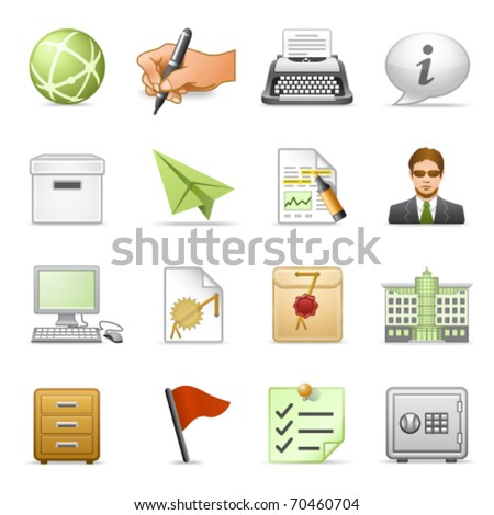 Business icons, set 4. - stock vector