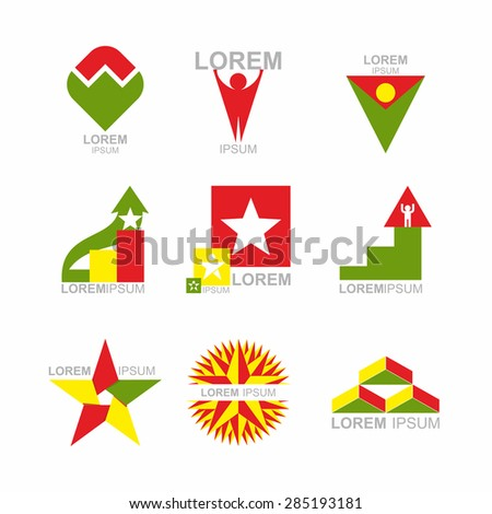 Business Icons Set. Design elements for business templates. Collection of logos on a white background - stock vector