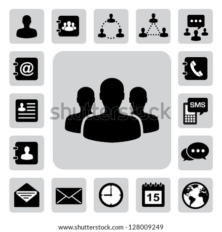 Business icons set. Illustration eps 10 - stock vector