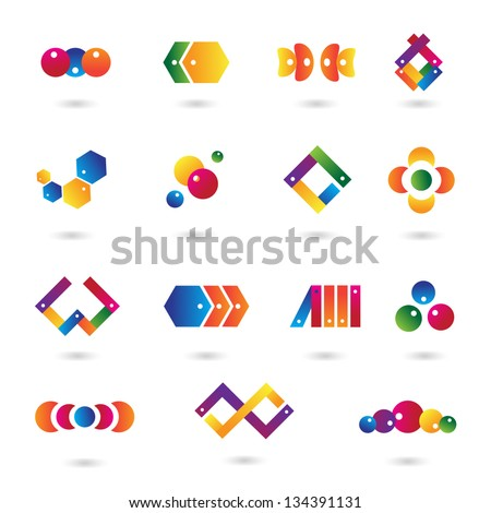 Business Icons - Set - Isolated On White Background - Vector Illustration, Graphic Design Editable For Your Design. Abstract Logo - stock vector