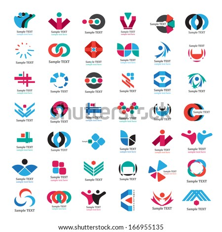 Business Icons Set - Isolated On White Background - Vector Illustration, Graphic Design Editable For Your Design. Flat Icons  - stock vector