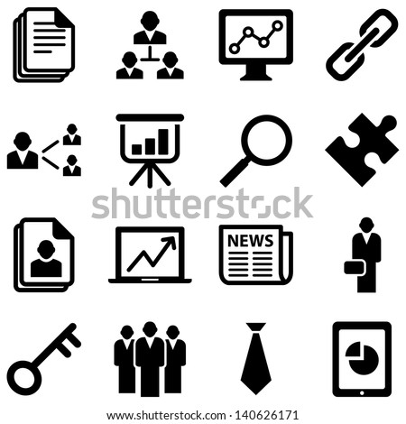 Business Icons - Set of business icons isolated on a white background.  Eps8. - stock vector