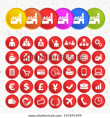BUSINESS ICONS. Set of icons. - stock vector