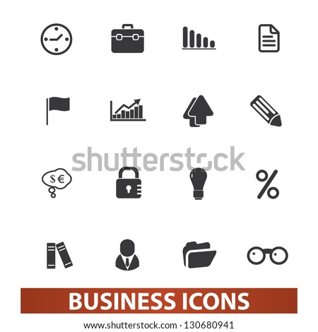 business icons set, vector - stock vector