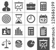 Business Icons. Vector illustration. Simplus series - stock photo