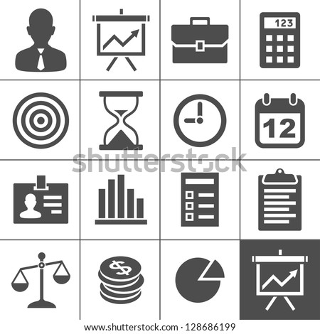 Business Icons. Vector illustration. Simplus series - stock vector