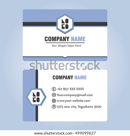 Business Id Card Template Design Stock Vector 2018 499099627