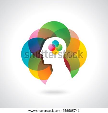 business idea thinking, creative design - stock vector