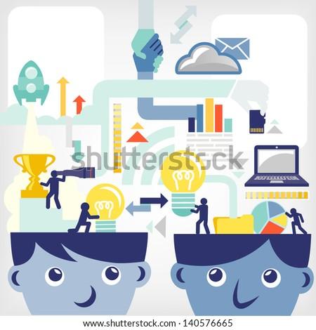 Business ideas/exchange - stock vector