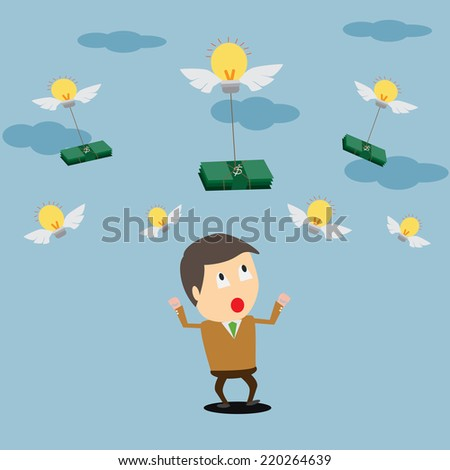 Business Ideas on how to save money. - stock vector