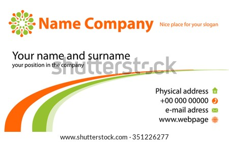 business identification card vector information company stock vector