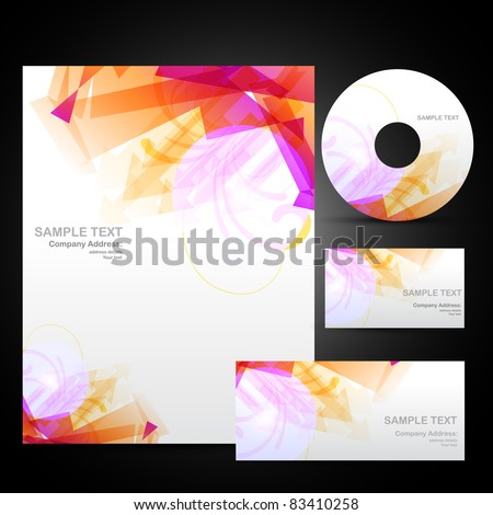 business identity set with artistic design - stock vector