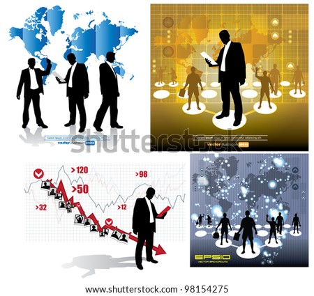 Business illustration - stock vector