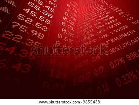 Business illustration showing stock market figures on a grid